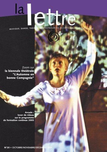 La Lettre n°20 - Arcade Provence-Alpes-Côte d'Azur - Arcade PACA