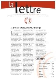 La Lettre n°07 - Arcade Provence-Alpes-Côte d'Azur - Arcade PACA