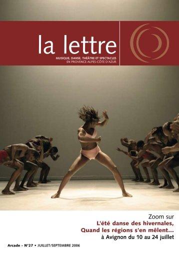 La Lettre n°27 - Arcade Provence-Alpes-Côte d'Azur - Arcade PACA