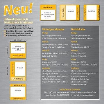 Aktions-Flyer - Pixel Prints