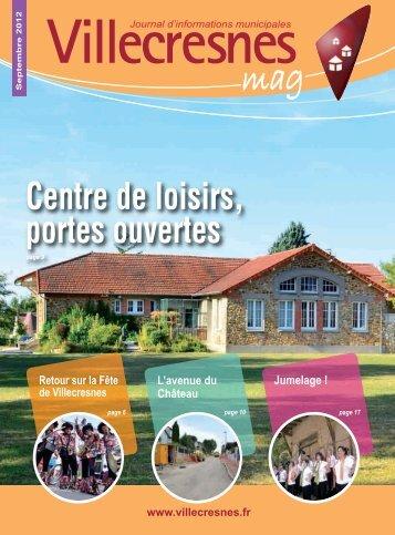 Septembre 2012 - Ville de Villecresnes