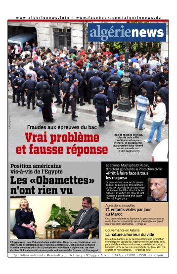 Fr-03-07-2013 - Algérie news quotidien national d'information