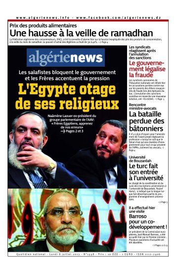 Fr-08-07-2013 - Algérie news quotidien national d'information