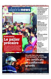 Fr-08-09-2013 - Algérie news quotidien national d'information
