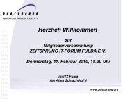 Download pdf (1,9 MB) - Verein ZEITSPRUNG IT-Forum Fulda eV