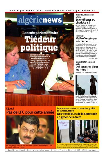 Fr-03-09-2013 - Algérie news quotidien national d'information
