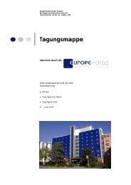 Tagungsmappe Europe Hotels International 2009