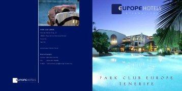 P A R K C L U B E U R O P E T E N E R I F E - Europe Hotels