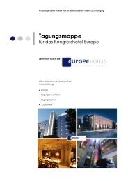 Tagungsmappe Europe Hotels International NEU NEU