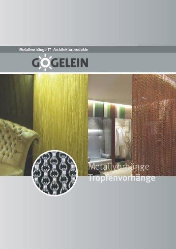 Tropfenvorhänge - Gögelein Architekturprodukte