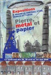 Catalogue des expositions - Centre Culturel d'Ittre