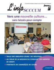 Septembre 2010 - SCCCUM - Université de Montréal