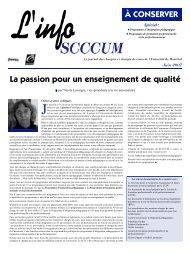 Été 2007 - SCCCUM - Université de Montréal