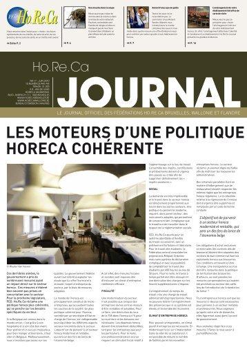 lEs motEurs d'unE PolitiquE horEca cohérEntE - Fédération Horeca ...