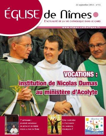 Eglise de Nîmes n° 15 du dimanche 22 septembre 2013