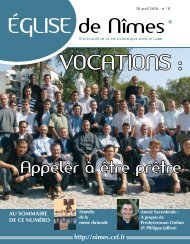 VocatIoNS : - Diocèse de Nîmes, Uzès, Alès
