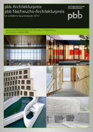 Broschüre pbb Architekturpreis 2010 - Preise der Baukultur
