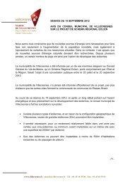 L'avis du conseil municipal du 14 septembre 2012 sur le projet de ...