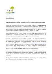 La Société d'histoire de la région de Terrebonne reçoit le Prix du ...