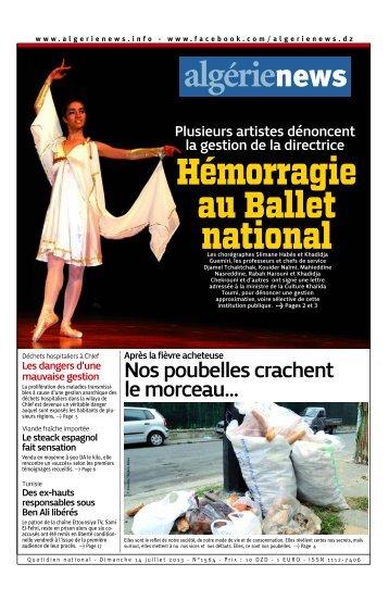 Fr-14-07-2013 - Algérie news quotidien national d'information