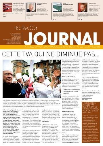 CETTE TVA QUI NE DIMINUE PAS… - Fédération Horeca Wallonie