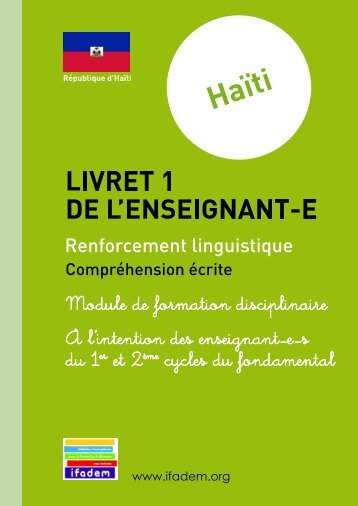 sequence 2 : la lecture - Ifadem