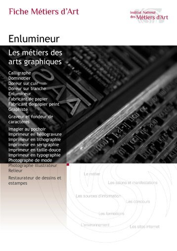 Enlumineur - Institut National des Métiers d'Art