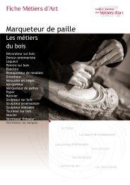 Marqueteur de paille - Institut National des Métiers d'Art