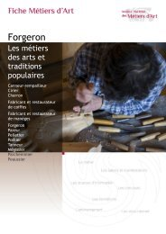 Forgeron - Institut National des Métiers d'Art