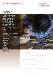 Poêlier - Institut National des Métiers d'Art
