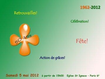 Samedi 5 mai 2012 à partir de 15h00 Eglise St Ignace – Paris ... - MEJ