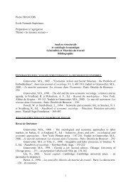 bibliographie marché du travail - pierrefrancois