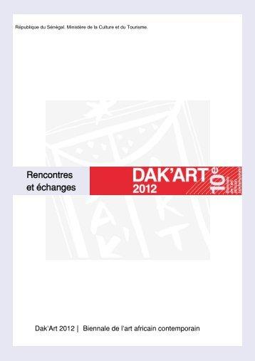 La présentation détaillée des Rencontres - Biennale de l'art africain ...