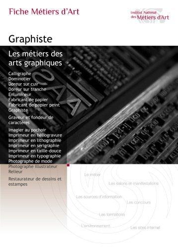 Graphiste - Institut National des Métiers d'Art