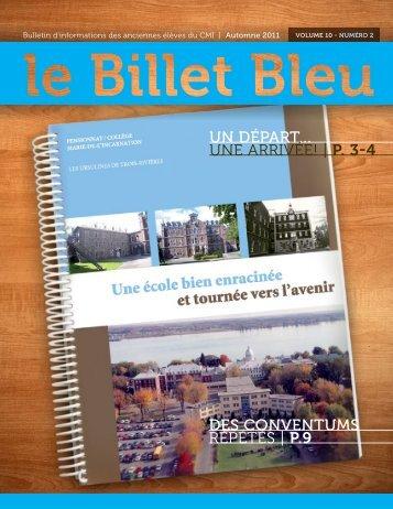 un départ... une arrivée! | p. 3-4 des conventums ... - Le Billet Bleu