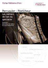 Perruquier - Posticheur - Institut National des Métiers d'Art