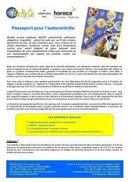 Passeport pour l'autocontrôle - Fédération Horeca Wallonie