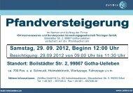 Samstag, 29. 09. 2012, Beginn 12:00 Uhr - ZehBra GmbH