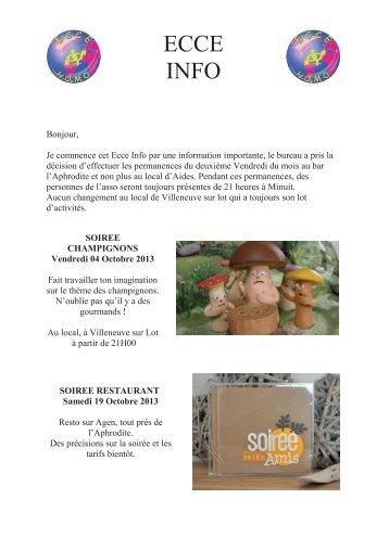 ECCE INFO n°19 du 02-10-2013 - Ecce Homo