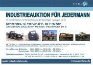Donnerstag, 10. Februar 2011, ab 11:00 Uhr - ZehBra GmbH