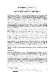 Histoire des C.A.E.F. (IX) - Servir - CAEF - Communautés et ...