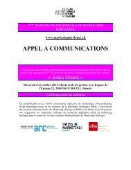 appel a communications - Journée Internationale du Marketing ...