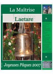 Bulletin Printemps 2007 -8 pages. - Les Maitrisiens
