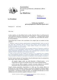 2009 04 14 - Projet de Lettre version réaménagée ... - Les Maitrisiens