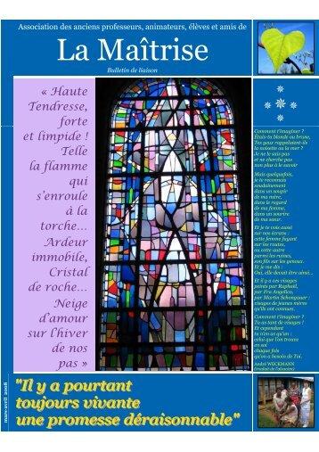 bulletin du printemps 2008 - Les Maitrisiens