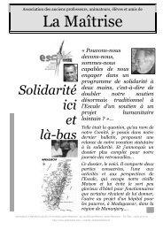 Dossier Solidarité Ici et Là-bas 01 - Les Maitrisiens