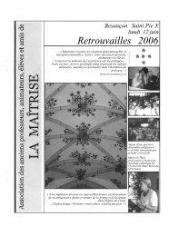 bulletin des retrouvailles 2006 - Les Maitrisiens