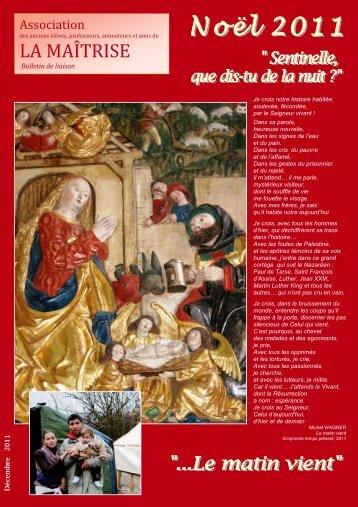 bulletin de noel 2011 - Les Maitrisiens