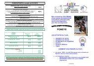 les horaires et tarifs - Ville de Villecresnes