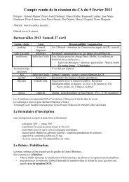 Conseil d'Administration du 5 février 2013 - Les Maitrisiens